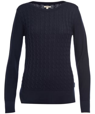 Women's Barbour Prudhoe Knitted Sweater - Navy