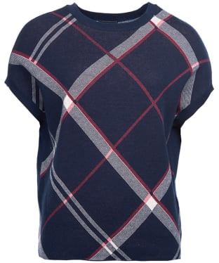 Women's Barbour Kirkwall Knitted Top - Navy