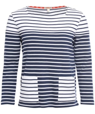 Women's Barbour Monreith Top - White / Navy