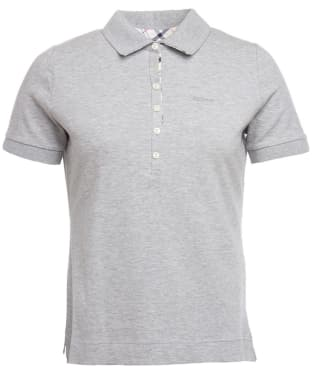 Women's Barbour Prudhoe Polo Shirt - Light Grey Marl