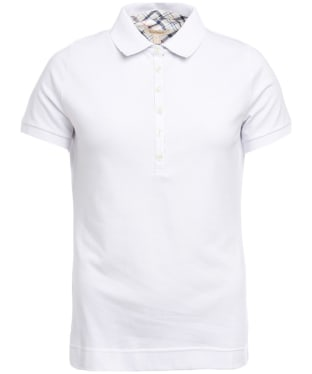 Women's Barbour Prudhoe Polo Shirt - White