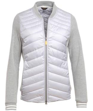 Women's Barbour Pembrey Sweater Jacket - Ice White