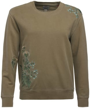 Women's Barbour Fern Crew Neck Sweatshirt - Bleached Olive