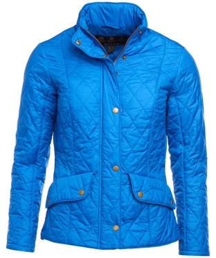 Women's Barbour Flyweight Cavalry Quilted Jacket - Victoria Blue