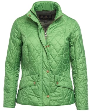 712b44b13be615 Women s Barbour Flyweight Cavalry Quilted Jacket - Clover