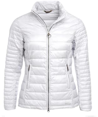 Women's Barbour Iona Quilted Jacket - Ice White
