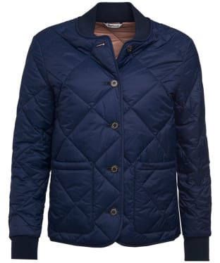 Women's Barbour Freckleton Quilted Jacket - Royal Navy
