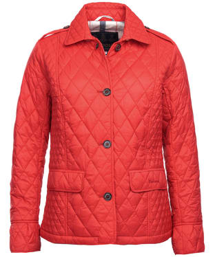 Women's Barbour Rosemarke Quilted Jacket - Tartan Red
