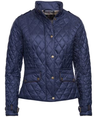 Women's Barbour Haddington Quilted Jacket - Navy
