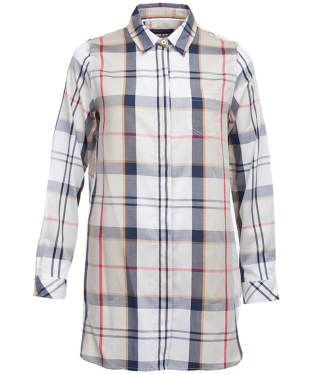 Women's Barbour Leathen Shirt - Summer Camel Tartan