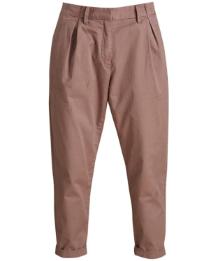 Women's Barbour Pleated Chinos - Blush Pink