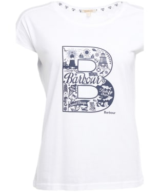 Women's Barbour Littlehaven Tee - White
