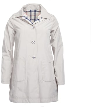 Women's Barbour Waterproof Reversible Derby Mac Jacket - Mist
