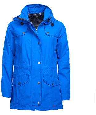 Women's Barbour Trevose Waterproof Jacket - Victoria Blue