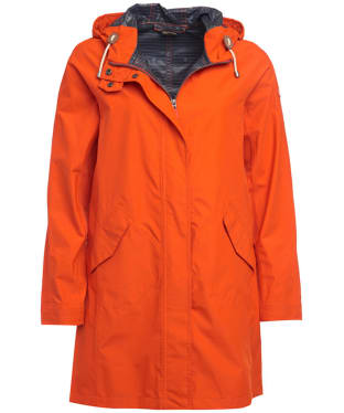 Women's Barbour Hartland Waterproof Jacket - Signal Orange