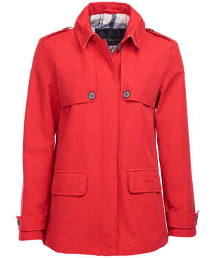 Women's Barbour Glenrothes Waterproof Jacket - Tartan Red