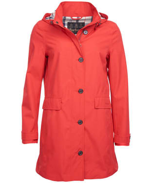 Women's Barbour Kirkwall Waterproof Jacket - Tartan Red