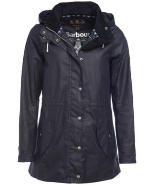 Women's Barbour Lighthaven Wax Jacket - Royal Navy