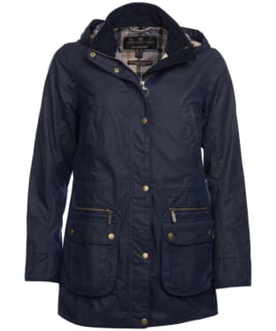 Women's Barbour Moorfoot Wax Jacket - Royal Navy