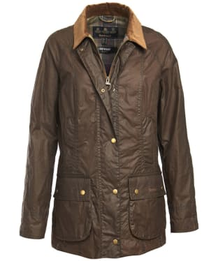 Women's Barbour Lightweight Beadnell Wax Jacket - Dark Sand