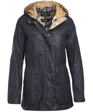Women's Barbour Lightweight Durham Wax Jacket - Royal Navy