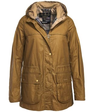 Women's Barbour Lightweight Durham Wax Jacket - Sand
