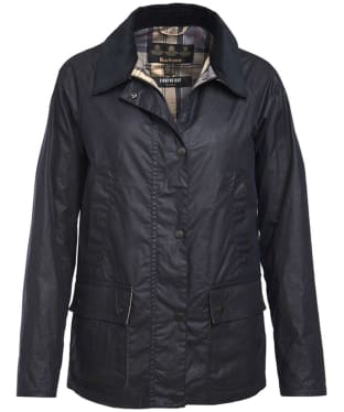 Women's Barbour Lightweight Acorn Wax Jacket - Royal Navy
