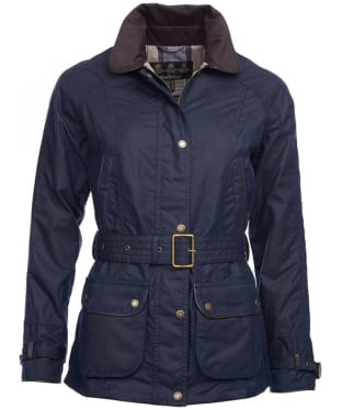 Women's Barbour Wester Wax Jacket - Royal Navy