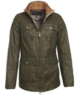 Women's Barbour Lightweight Filey Wax Jacket - Archive Olive