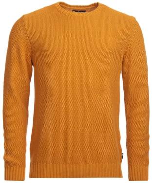 Men's Barbour Kelp Crew Neck Sweater - Sunset Orange