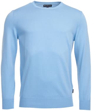 Men's Barbour Garment Dyed Crew Neck Sweater - Sky Blue