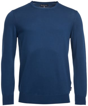 Men's Barbour Garment Dyed Crew Neck Sweater - Inky Blue