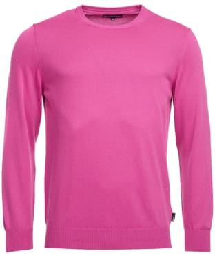 Men's Barbour Garment Dyed Crew Neck Sweater - Fuchsia Pink