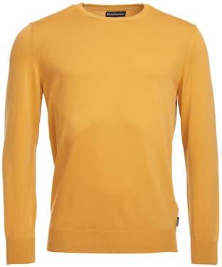 Men's Barbour Garment Dyed Crew Neck Sweater - Mustard