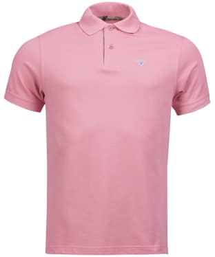 Men's Barbour Tartan Pique Polo Shirt - Dusty Pink