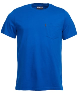 Men's Barbour Essential Pocket Tee - Electric Blue
