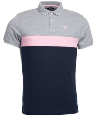 Men's Barbour Gill Panel Polo Shirt - New Navy