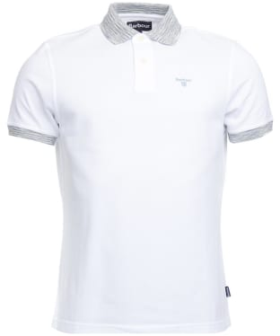 Men's Barbour Abbey Contrast Polo Shirt - White