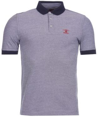 Men's Barbour Peak Mix Polo Shirt - Midnight