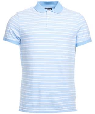Men's Barbour Bedford Stripe Polo Shirt - Sky