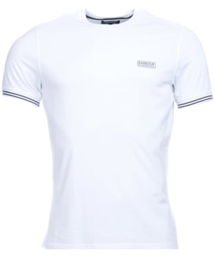 Men's Barbour International Cable Tipped Tee - White