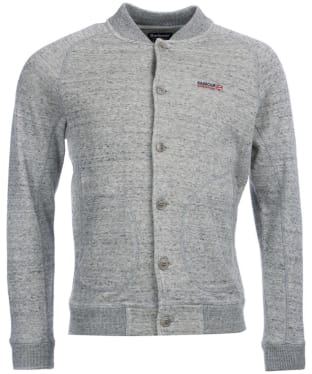 Men's Barbour International Vice Button Through Sweater - Grey Marl