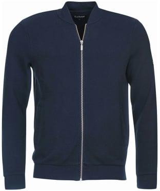 Men's Barbour International Grip Zip Thru Sweater Jacket - Navy