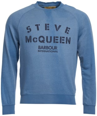 Men's Barbour Steve McQueen Stencil Crew Sweatshirt - Chambray Blue