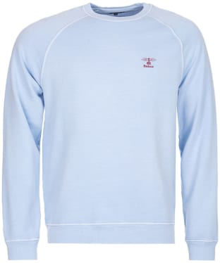 Men's Barbour Pike Crew Neck Sweater - Light Blue