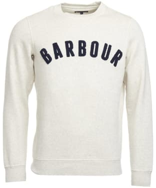 Men's Barbour Prep Logo Crew Sweater - Ecru Marl