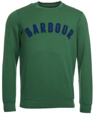 Men's Barbour Prep Logo Crew Neck Sweatshirt - Racing Green