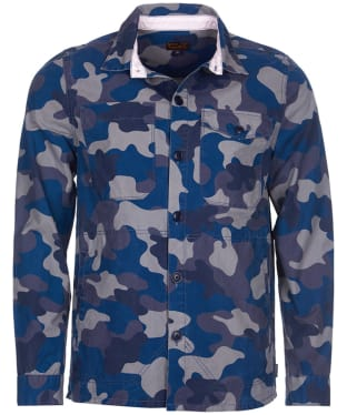 Men's Barbour Camo Button Through Overshirt - Navy