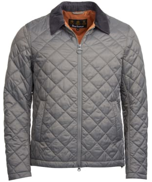 Men's Barbour Helm Quilted Jacket - Grey
