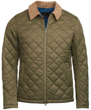 Men's Barbour Helm Quilted Jacket - Olive